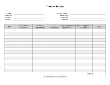 printable invoices templates