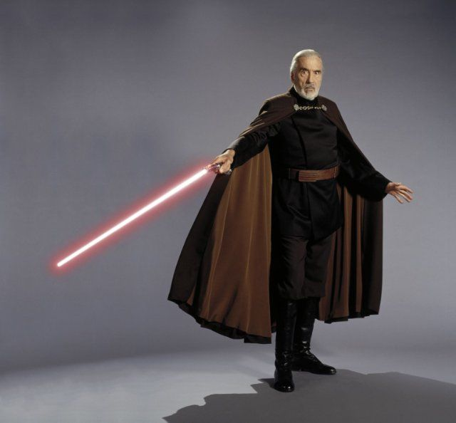 Christopher Lee in Star Wars: Episode II - Attack of the Clones