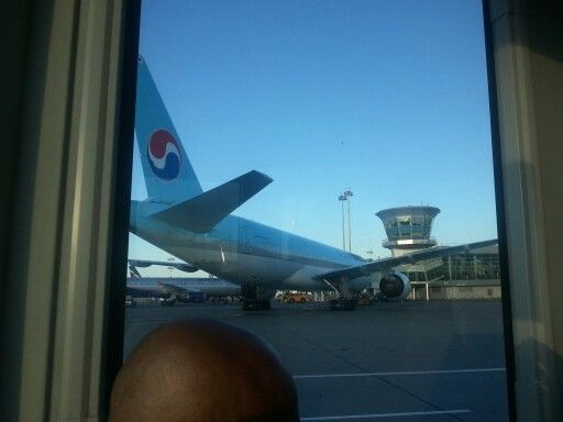 A Korean Air fleet departing to Seoul at Moscow Shermetyevo Airport. 20130816