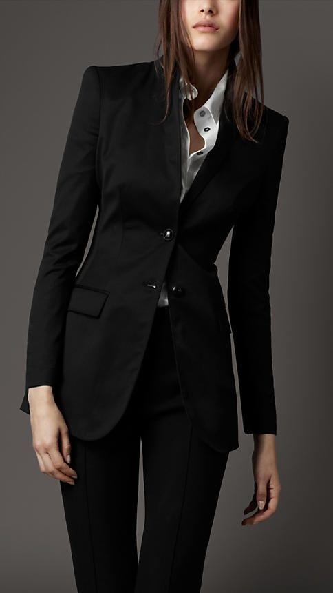 Woman in black.