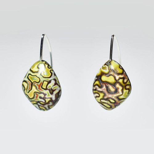Mustard Crackle Earrings 2.jpg