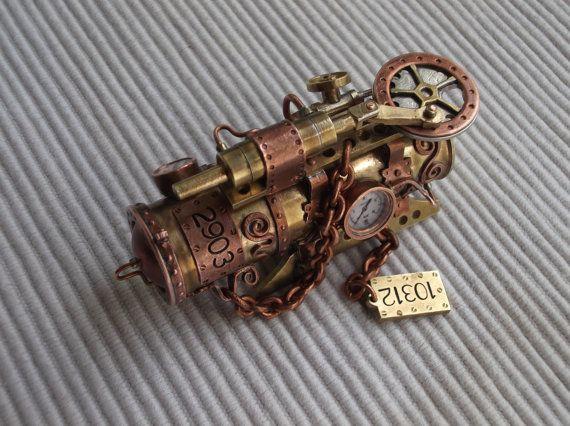 Lecteur flash steampunk « Steam engine II », 32 Go usb 3