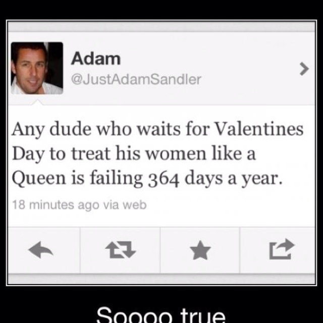 I think I want to date Adam Sandler..:  Internet Site, Sooo True, Real Man,  Website, Adam Sandler, Quote, Web Site, Valentines Day, True Stories