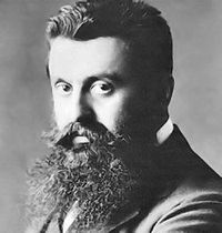 "Theodor Herzl (Hebrew: תאודור הרצל‎, Hungarian: Herzl Tivadar; May 2, 1860 – July 3, 1904), born Benjamin Ze'ev Herzl (Hebrew: בִּנְיָמִין זְאֵב הֵרצְל‎, also known as חוֹזֵה הַמְדִינָה, Hozeh HaMedinah, lit. ""Visionary of the State"") was an Ashkenazi Jewish Austro-Hungarian journalist and the father of modern political Zionism and in effect the State of Israel."