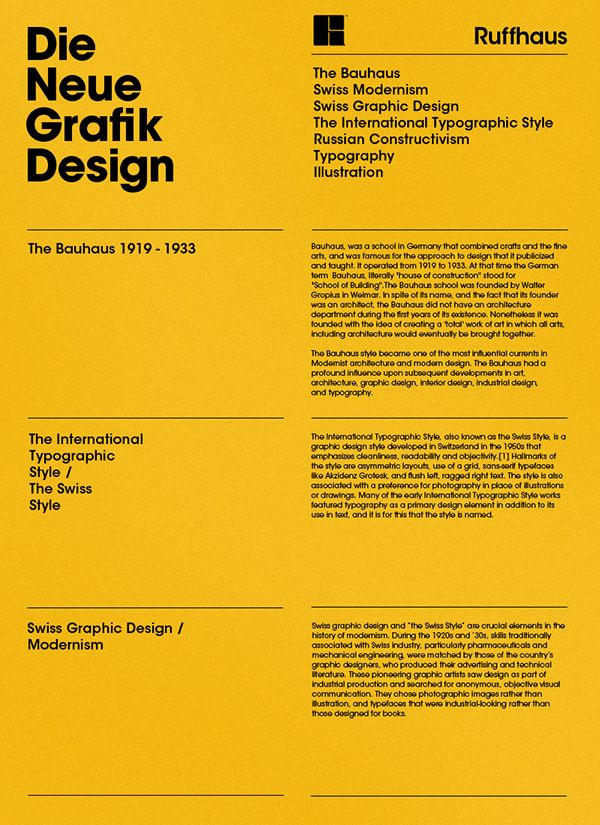 Poster design based on the Swiss International Typographic Style. A work in progress