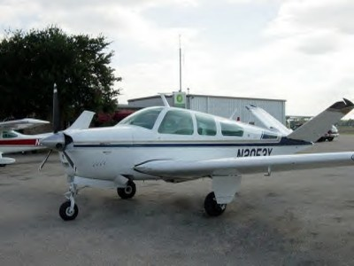 """Beechcraft Bonanza; I've """"soloed"""" an airplane many times, but I never finished getting my private pilot's licence. Flying is very cool."""