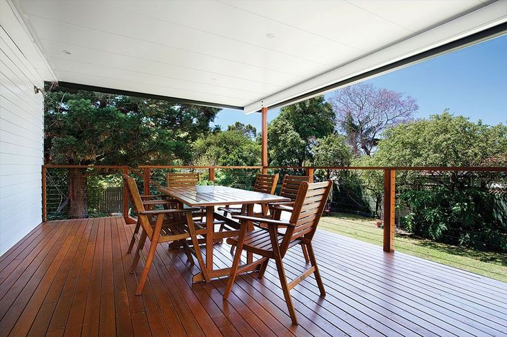 Australia patio with insulated roofing with white ceiling