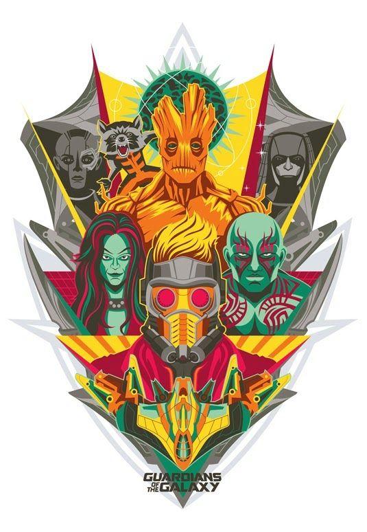 Pôster Os Guardiões da Galáxia ~ SuperVault
