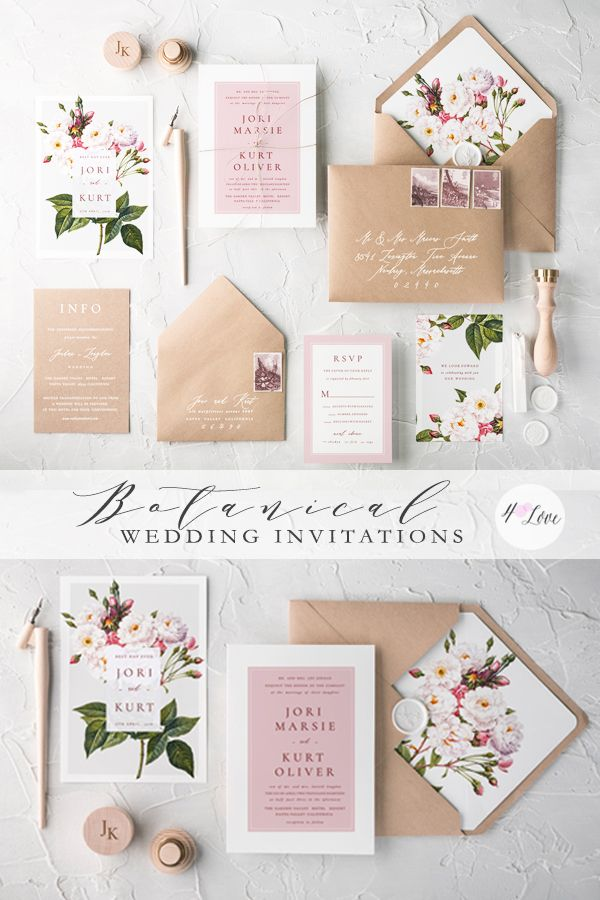 sending wedding invitations months before%0A Floral botanical wedding invitations  Completely personalize any design  with your own colors  fonts