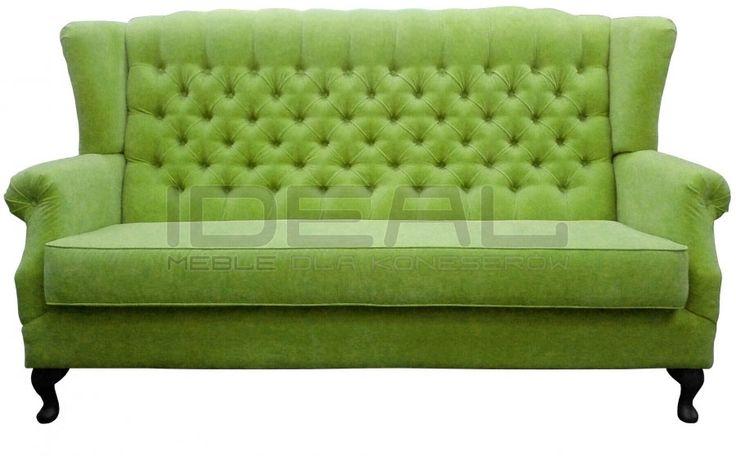 sofa_uszak_09.jpg (900×558)  zielona sofa chesterfield Madam, green chesterfield, pluszowa sofa chesterfield, velvet chesterfield, styl angielski