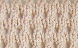 Ajourbreien 2: Dit is al een heel ander effect. Je breit hiervoor gewoon de eerste twee naalden hetzelfde als bij de basis en dan 3e en 4e nld in tricotsteek. Over een even aantal steken: nld. 1: 1 st. r., * 1 omslag, 2 st. recht samenbreien* , herh. van * tot *, eindig met 1 st. r. nld. 2 en 4: alle steken av. nld. 3: alle steken recht Herhaal deze vier naalden