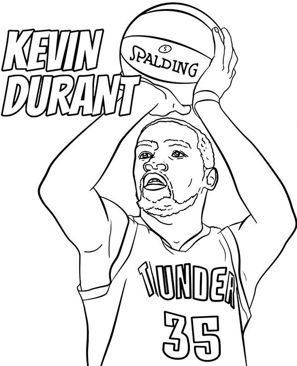 Kevin Durant Coloring Page Nba Player Basketball Picture Nba Kevin Durant Kevin Durant Kevin Durant Wallpapers