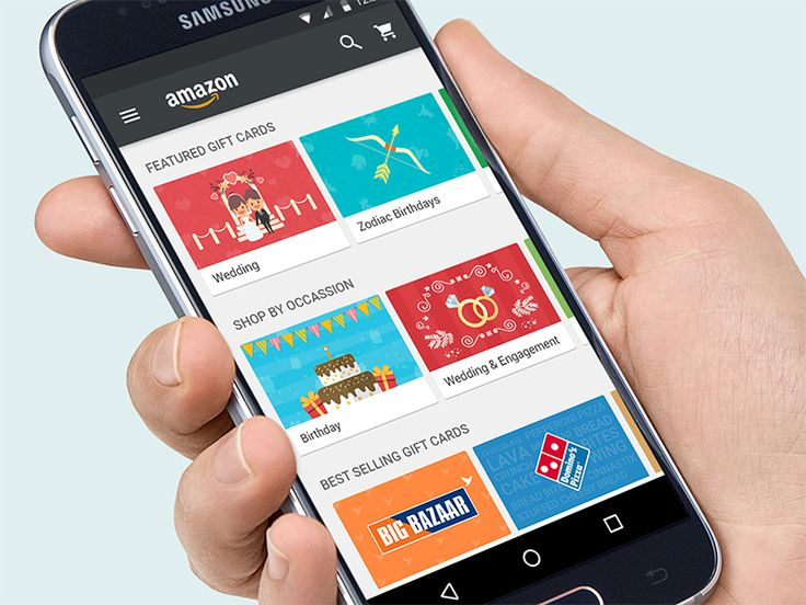 Amazon S Android App Concept Design For Shop Cards
