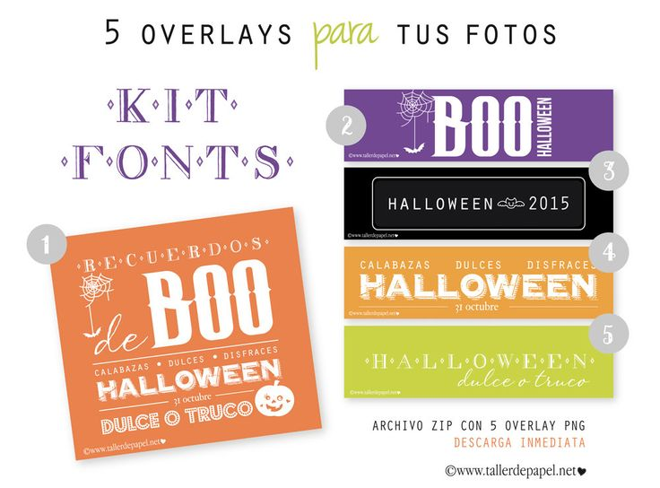 Photos OVERLAYS for Halloween - Kit Fonts : text Photo Overlay - INSTANT DOWNLOAD! - pinned by pin4etsy.com