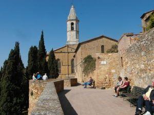 Along the wall, Pienza, Tuscany