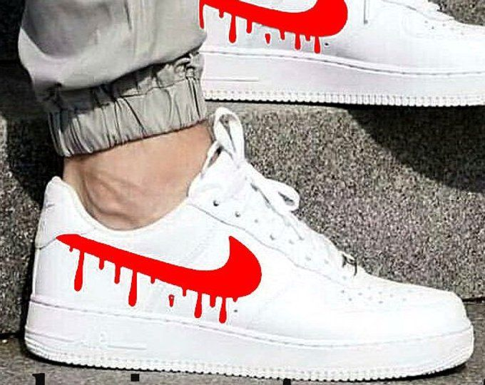 Nike Air Force 1 Low with Candy Drip Design   Etsy   Nike