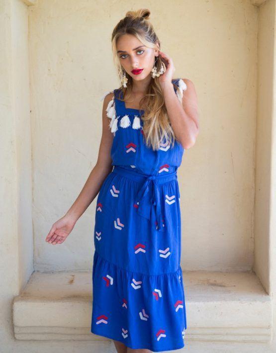 Medusa Embroidered Dress   Sundaystyler - Online Clothing Store