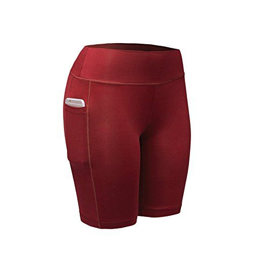 ROPALIA Short de Compression Sport femme Pantalons Courts Fitness Gym (S  Rouge) ce466b50cf3