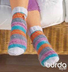 Детские носки с пуговицами - схема вязания спицами. Вяжем Носки на Verena.ru