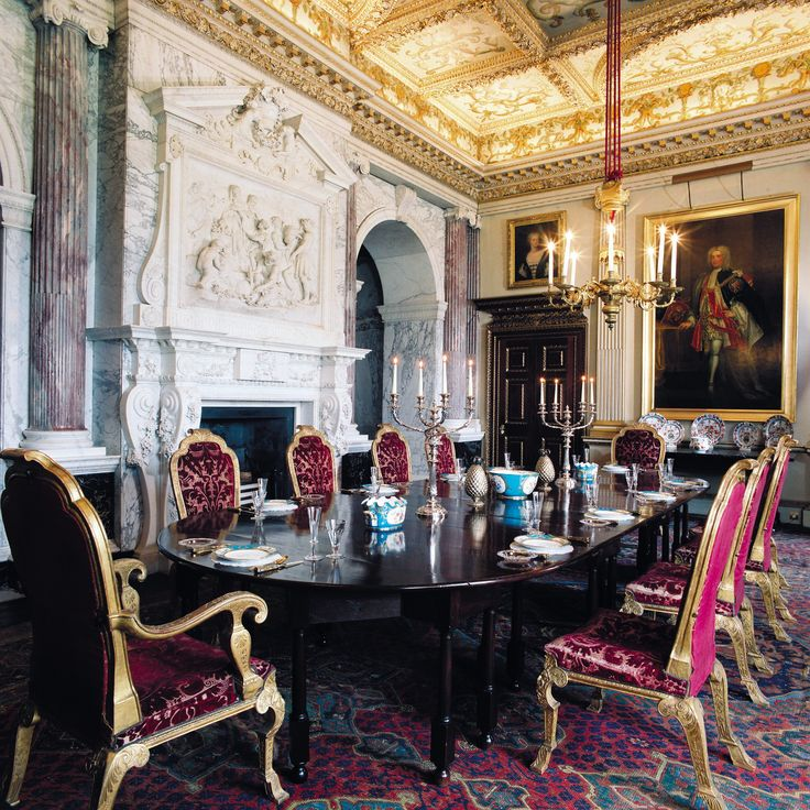 A View Of The Marble Parlour With Sevres Porcelain At Houghton Hall Procelain And Other Objects From This Historic Estate Are On In