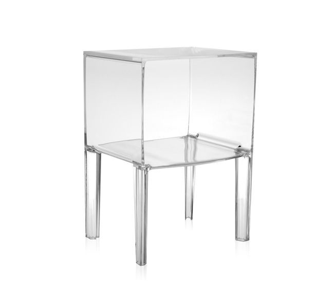 Show off your great taste in bedside reads with this clear acrylic Ghost Buster nightstand by Kartell