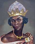 Queen Nzinga  (1583-1663)  In the sixteenth century, the Portugese position in the slave trade was threatened by England and France. As a result, the Portugese shifted their slave-trading activities to the Congo and South West Africa.   Here, the Portugese encountered the brilliant and courageous Queen Nzinga, who was determined never to accept the Portugese conquest of her country. An exceptional stateswoman and military strategist, she harassed the Portugese until her death, at age eighty.