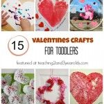 Easy Kids Valentines Craft -Teaching 2 and 3 Year Olds