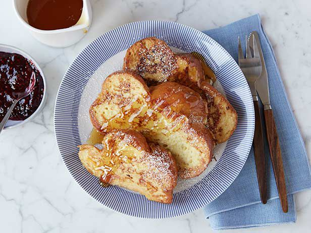 Ina's Challah French Toast Recipe:  Turned out great - used 1% milk and added a little cinnamon but otherwise no changes.  Definitely include the orange zest!