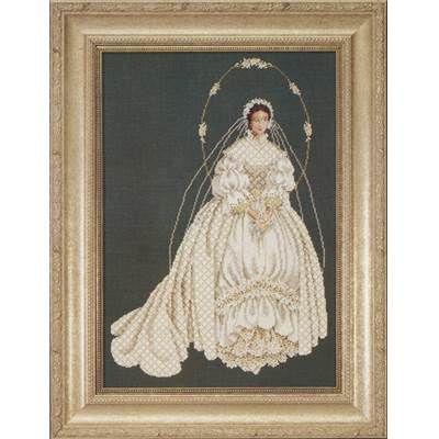 modèle de broderie au point de croix i thee wed  - lavender and lace