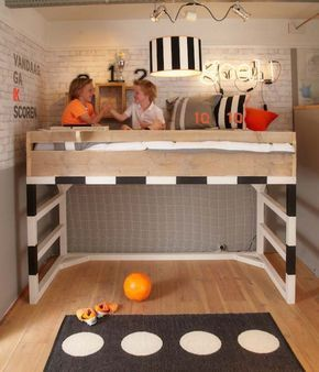 (^o^) Kiddo (^o^) Lofty ~ Kids Loft Bed - cama-niños-futbol