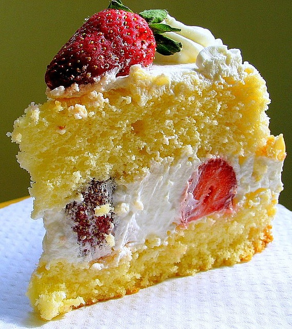 strawberry lemon cake - Someone make this for me for my birthday.