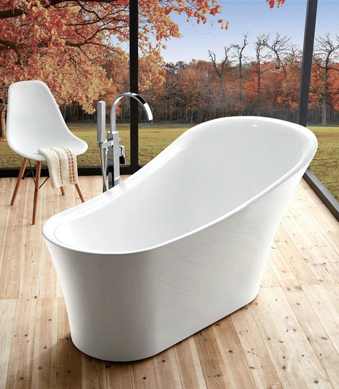 Legion Furniture Daisy 67 Quot Acrylic Slipper Freestanding Bathtub