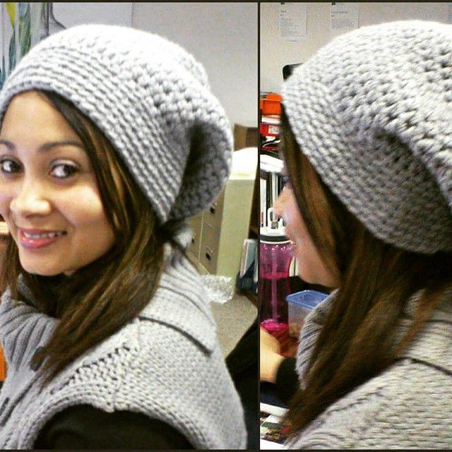 Spotted in the office wearing a #NiftyNadi #beanie #crochet #happiness #etsy #etsyshop #etsyseller