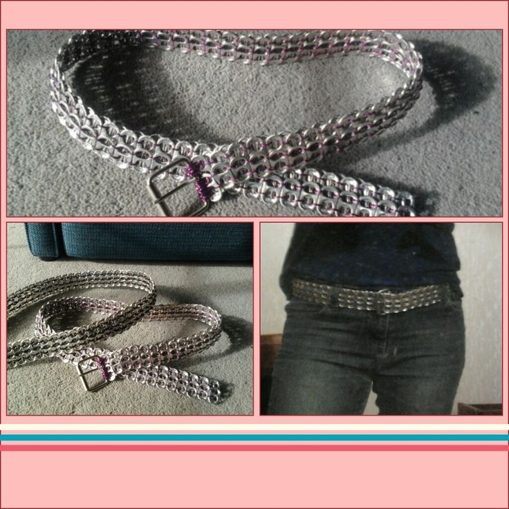 soda can tab belts i made :)