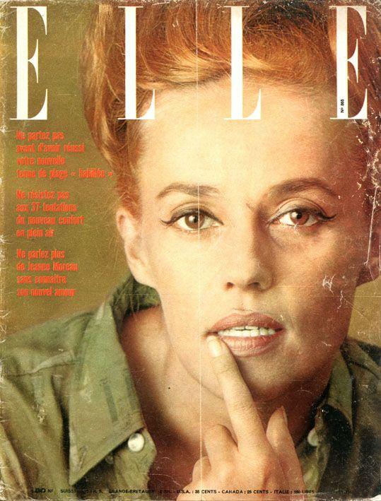 Jeanne Moreau en couverture de Elle n°865 de1962