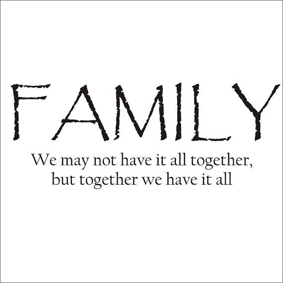 Family Quote Large Vinyl Decal Wall Decal by CustomVinylbyBridge