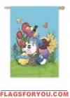 Easter Portly Birds Garden Flag - 1 left