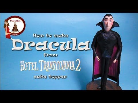 How to make Dracula from Hotel Transylvania out of fondant - YouTube
