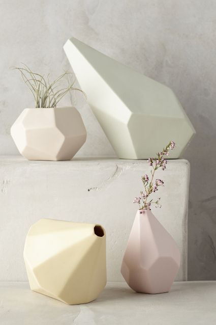 Faceted Ceramic Vase - anthropologie.com