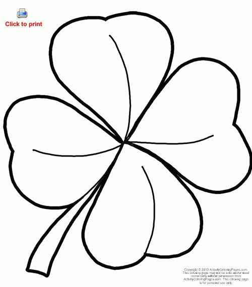 4 leaf clover outline - Google Search | Tattoos ...