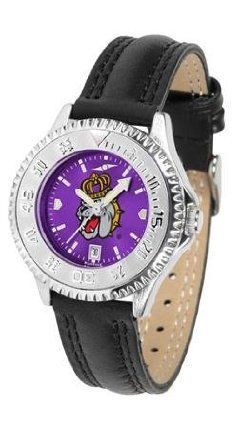 James Madison Dukes JMU NCAA Womens Leather Wrist Watch by SunTime. $79.95. Showcase the hottest design in watches today! A functional rotating bezel is color-coordinated to compliment your favorite team logo. A durable long-lasting combination nylon/leather strap together with a date calendar round out this best-selling timepiece.