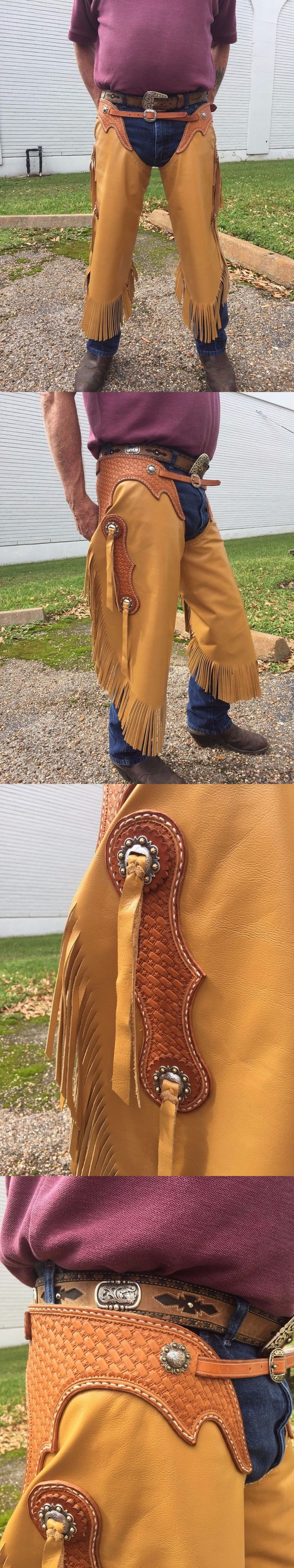 Western Chaps Full Chaps 183358: Hand Made Custom Western Chinks -> BUY IT NOW ONLY: $200 on eBay!
