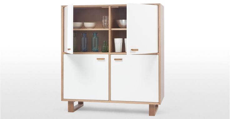 Henge Large Storage Unit in oak and white | made.com