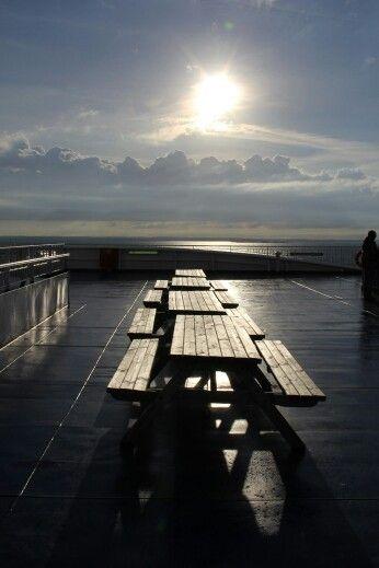 An Deck der Stena Scandinavica