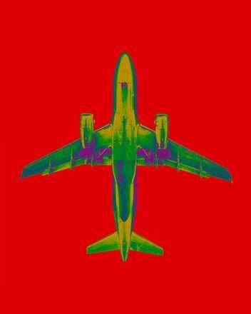 Thomas Eigel, plane_06_15_12d, 2015 / 2016 © www.lumas.de/ #LumasDigital,  Digital Art,  farbenreich,  Flügel,  Flughafen,  Flugzeug,  Flugzeug,  Flugzeuge,  Flugzeuge,  Fotografie,  Grafiken,  grün,  Himmel,  Konzept,  rot,  Technik