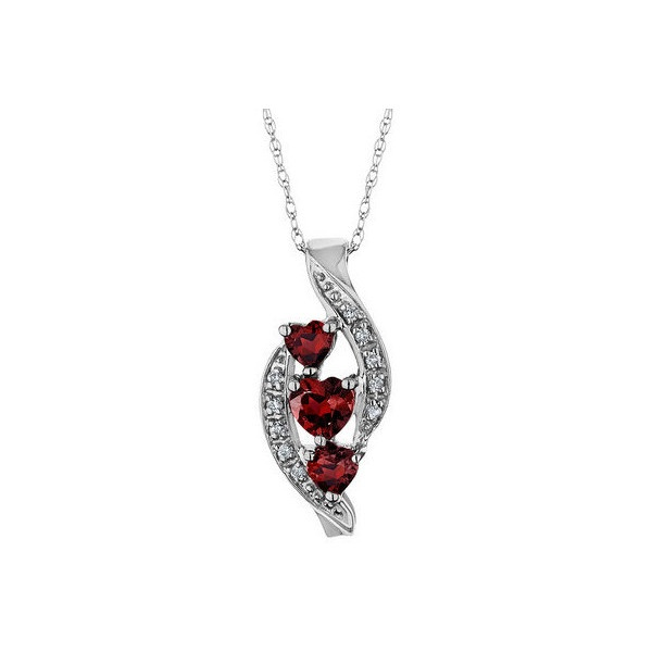 325 best garnets images on pinterest jewels jewelry ideas and rings garnet heart pendant necklace with diamonds 25 carat ctw in 10k white mozeypictures Images