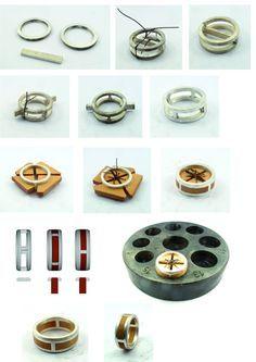 Process bague insert bois, le retour! - Anello con inserti in legno - wood and silver ring, tutorial