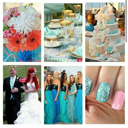 Kiss the girl mermaid wedding!