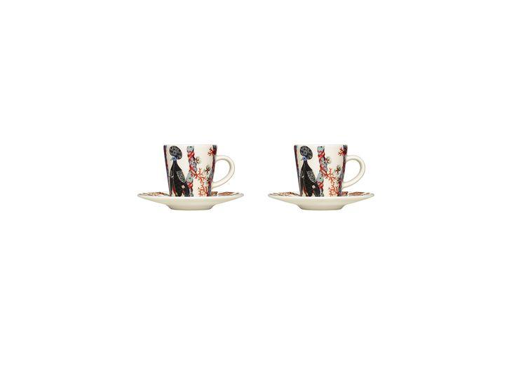 Tanssi Espresso set 2 + 2 pcs Klaus Haapaniemi