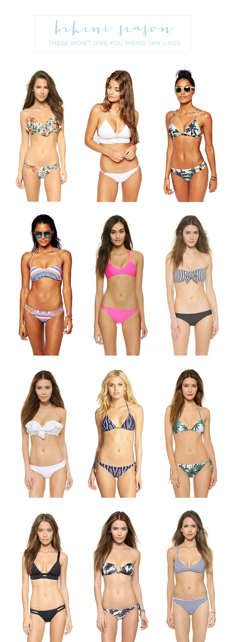 12 Affordable Bikinis That Won't Give You Weird Tan Lines - click through to shop!
